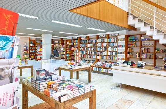 Bildergalerie der Kleinschen Buchhandlung in Krefeld - Innenansicht
